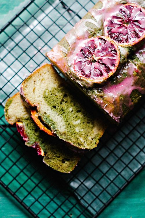 Blood Orange Nutmeg & Matcha Swirled Loaf Cake — Spice + Sprout