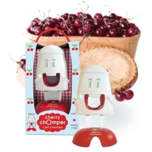 cherry pitter - so cool!: Design Cherries, Cherries Recipes, Pit Cherries, Cherries Chomper, Chomper Cherries, Cherries Pitter, Kitchens Products, Kitchens Gadgets, Cherries Pies
