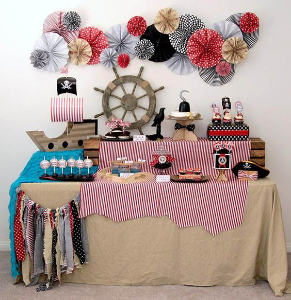 Love this vintage shabby chic pirate party