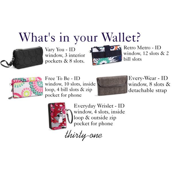 What's in YOUR Wallet?     Contact me at: www.mythirtyone.com/laurena31 for information!