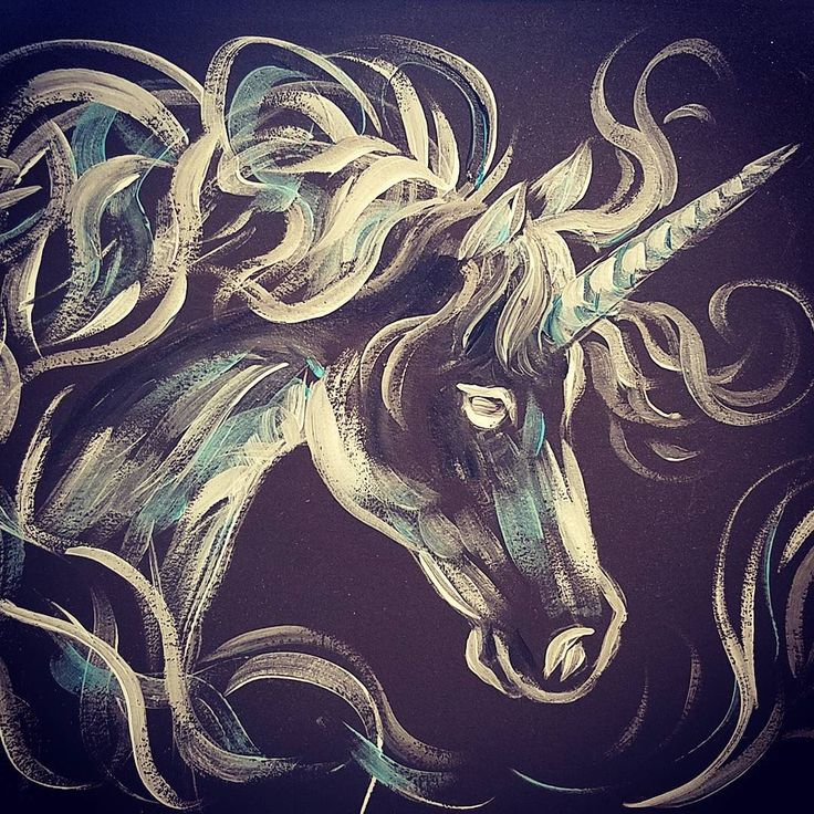Unicorn Patronus #AcrylicPainting Tutorial on #YouTube by #angelafineart  #angelooney #harrypotter #fantasticbeasts