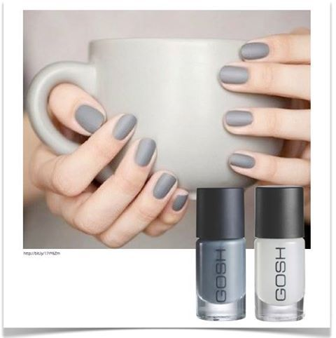 Show off your #mani during coffee time today with #GOSH Nail Lacquer in Miss Grey & Matt Top Coat! Be the envy of the office at http://www.redsquare.co.za/gosh-nail-lacquer-128390.html