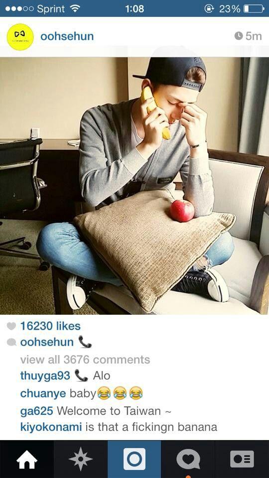 OK Sehun if you want! XD