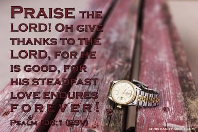 Verse of the Day: Thank You, Lord! - Psalm 106:1