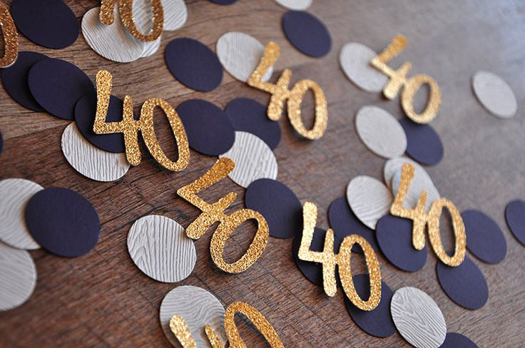 Definitely using this confetti for the tables at my friend's 40th birthday!