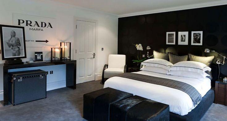 Idee per arredare la camera da letto in bianco e nero n. 27  Camere ...