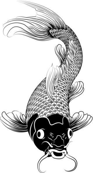 Koi Fish Tattoo Design Idea