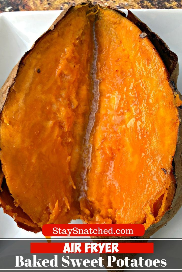 Easy Air Fryer Loaded Baked Sweet Potatoes is a recipe ...