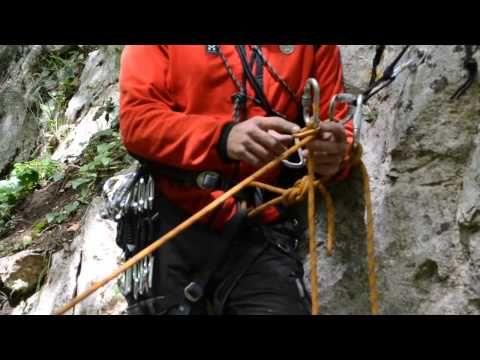 Uso della piastrina GiGi nel recupero con corda singola - YouTube