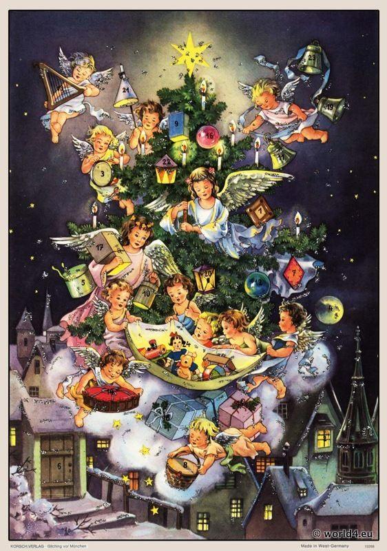 vintage christmas calendar - Google-haku