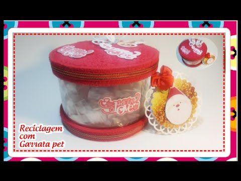 Aprenda a fazer lindas embalagens de presente com garrafa PET passo a pa...