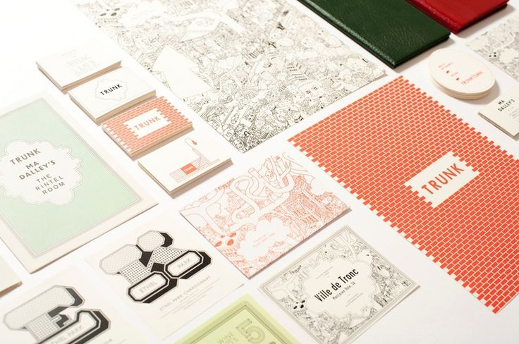 projects of imagination: trunk: Design Inspiration, Colors Combos, Branding Design, Visual Identity, Corporate Identity, Soft Colors, Colors Mixed, Graphics Design, Restaurant Branding