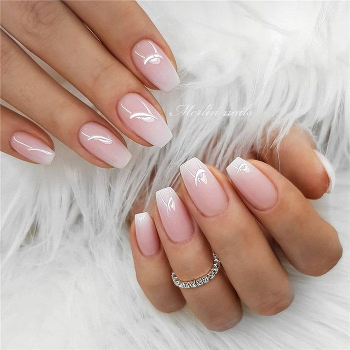 Wedding Natural Gel Nails Design Ideas for Bride 2019, #Wedding Nails, #Natural …