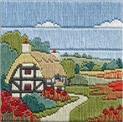 Poppy Cottage 'Silken' Long Stitch Kit