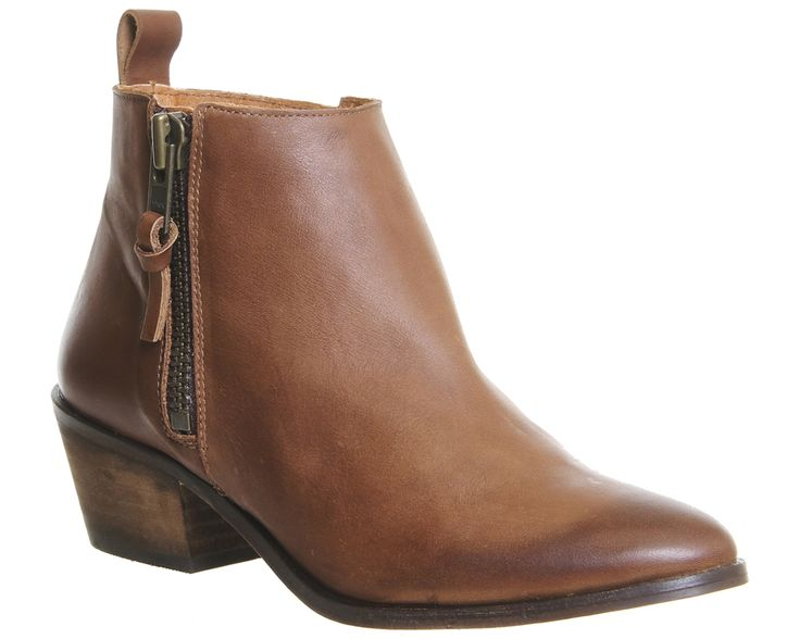 17 best ideas about Tan Leather Ankle Boots on Pinterest | Leather ...