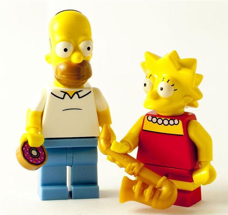 Nya Lego Simpsons Minifigurer - Homer & Lisa på Tradera.com