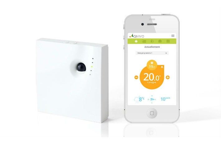 Thermostat connecté QIVIVO pour smartphones