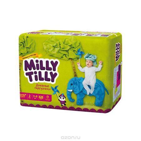 """Milly Tilly Подгузники дневные """"Mini"""", 3-6 кг, 68 шт  — 1097р. - Нежный материал дневного подгузника """"Milly Tilly"""" в виде сот прилегает к коже и дарит малышу невероятный комфорт. Данная структура верхнего слоя в виде сот позволяет свободно циркулировать воздуху внутри подгузника. Эластичные поясочки надежно фиксируют его, при этом не стесняют движений малыша. Нежные оборочки сделаны из трех мягких резиночек, которые не натирают ножки. Застежки """"Magic Fix"""" - настолько крепкие, что их можно…"""