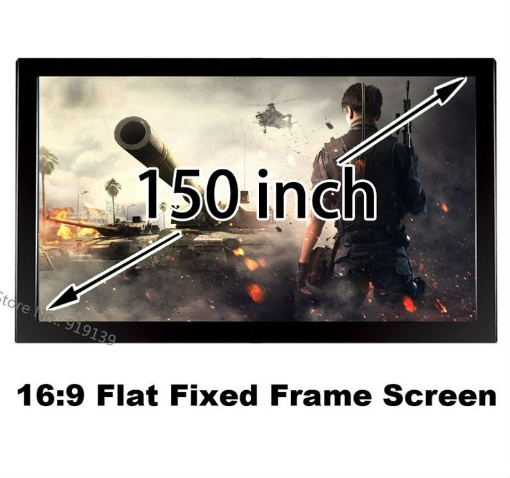 443.84$  Buy here - http://alikoq.worldwells.pw/go.php?t=32634544382 - 150 Inches Fixed Frame Projector Screen 16:9 Flat Wall Mounted HD 3D Screens 2 Years Warranty In Stock For Sale