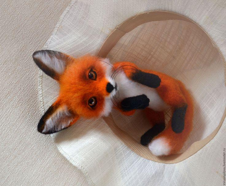 Купить Лисичка - рыжий, лиса, лиса игрушка, лиса рыжая, лиса из шерсти, войлочная лиса