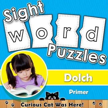 Sight Words - Dolch Primer - Printable Puzzles ... A fun way to learn sight words. #sightwords