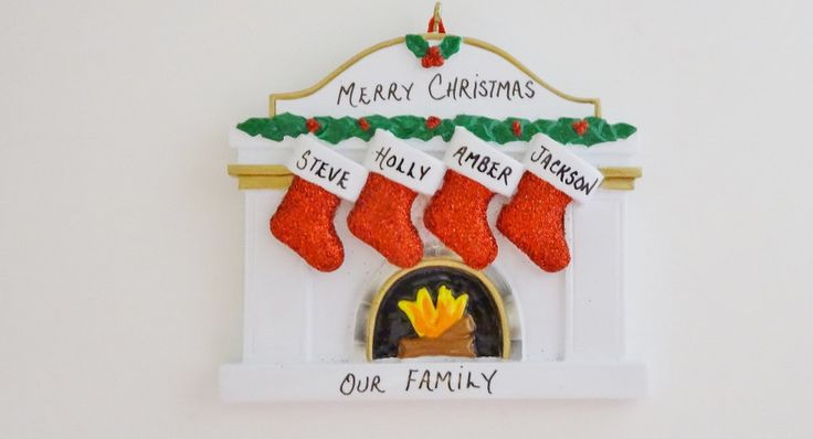 1000 images about personalized family of 4 ornaments on for Family of 4 christmas ornament
