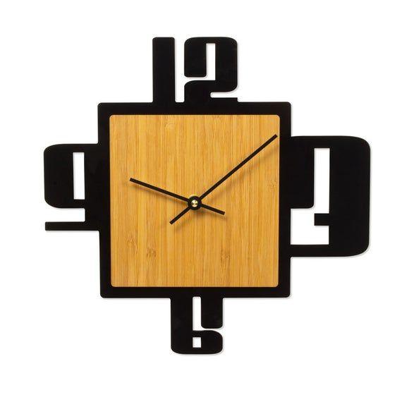 Retro Bamboo Clock Clock Vintage Wall Clock Wall Clock