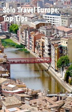 View of Girona from the Cathedral - Venice of Spain Solo Travel Europe: Top Tips, Advice and Recommendations http://solotravelerblog.com/solo-travel-europe-top-tips-advice-and-recommendations/
