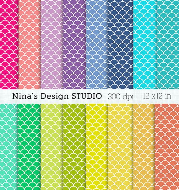 50% SALE INSTANT DOWNLOAD 16 scales digital by Ninasdesignstudio