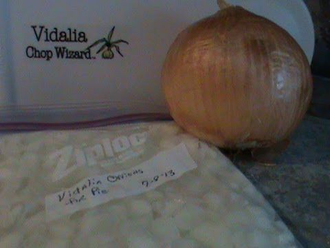 How to Freeze Onions - Vidalia also