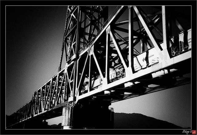 Second Narrows Train Bridge. Vancouver Heights, Vancouver, British Columbia, Canada #Vancouver #Heights #British #Columbia #Canada #Second #Narrows #Train #Bridge
