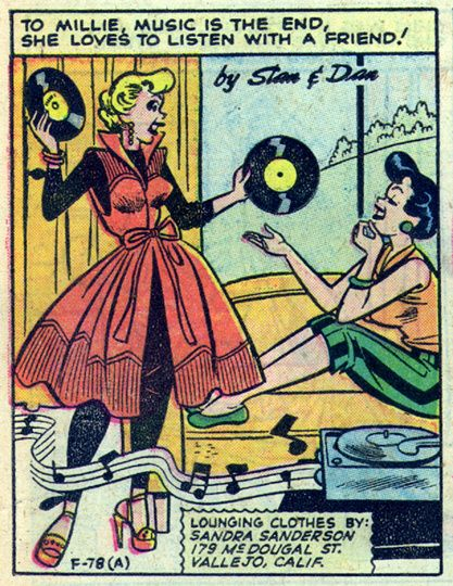 TO MILLIE, MUSIC IS THE END. art by Dan DeCarlo