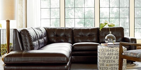 Messina leather sectional