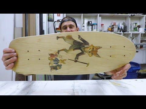 PRINT ANY IMAGE ONTO BLANK SKATEBOARDS!! (inkjet printer) - YouTube