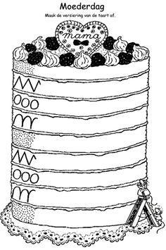 Schrijfpatroon taart