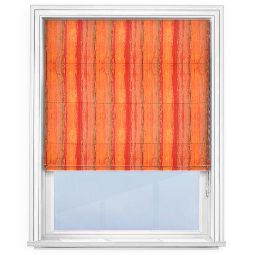 iLiv Fresco Orange Roman Blind