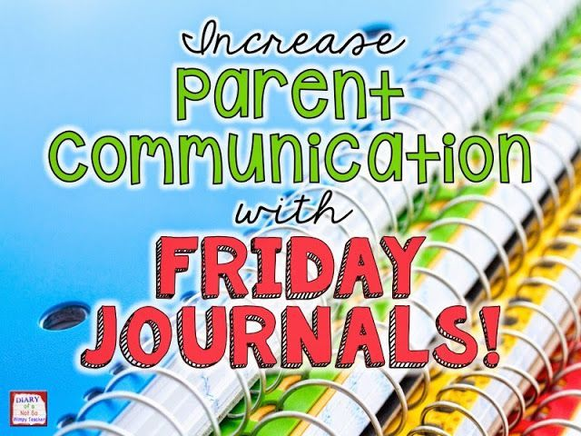 Increase Parent Communication with Friday Journals