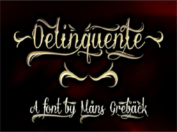 Cool Tattoo Fonts: Stunning Delinquente Demo Font Tattoo ~ tattooeve.com Tattoo Ideas Inspiration