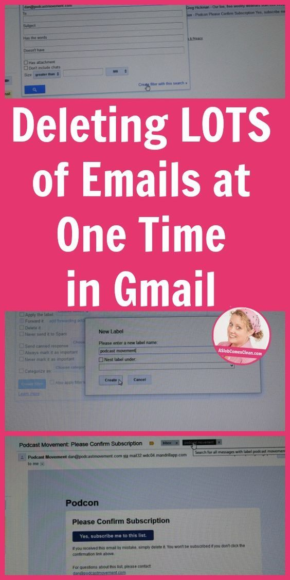 Deleting Lots Of Emails At One Time In Gmail Computers