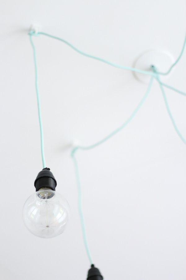 ampoule edison lustre araign e mint scandinave home diy pinterest. Black Bedroom Furniture Sets. Home Design Ideas