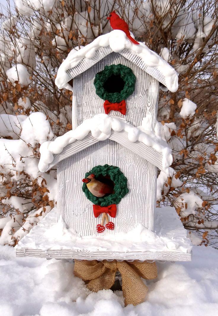83 Best Christmas Birdhouse Images On Pinterest