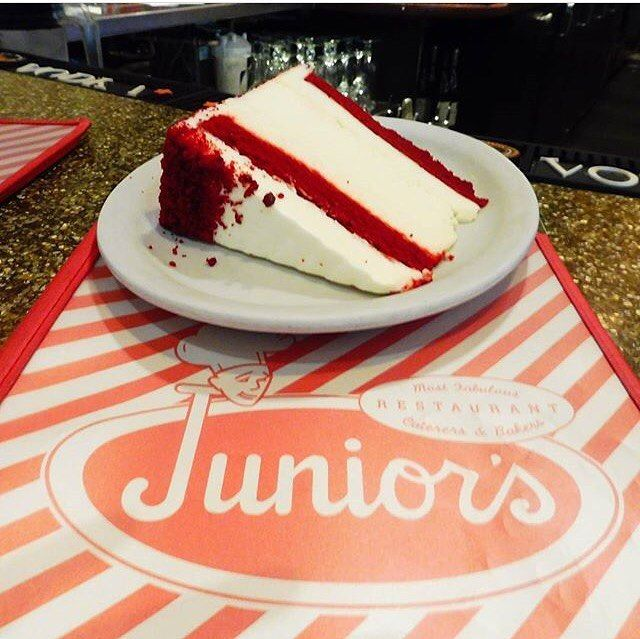 Is it ever not a good night for red velvet cheesecake???  #juniorscheesecake #juniors #cheesecake #brooklyn #nyc #bocaraton #foxwoods #flatbush #dekalb #timessquare #broadway #eeeeeats #miznerpark #redvelvet