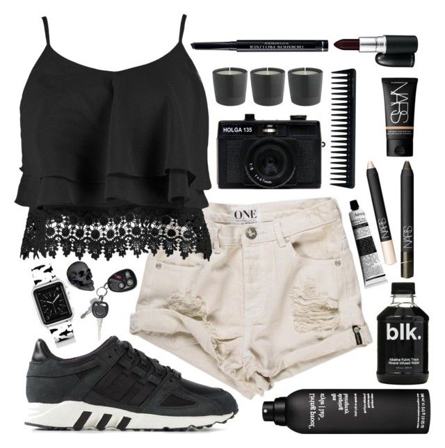 Simple Things by amadewi on Polyvore featuring polyvore, fashion, style, Boohoo, adidas, Casetify, MAC Cosmetics, NARS Cosmetics, Christian Dior, Living Proof, GHD, L'Objet and Holga