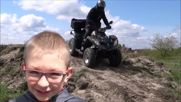 Kymco quad - test ride on track - Taplic video