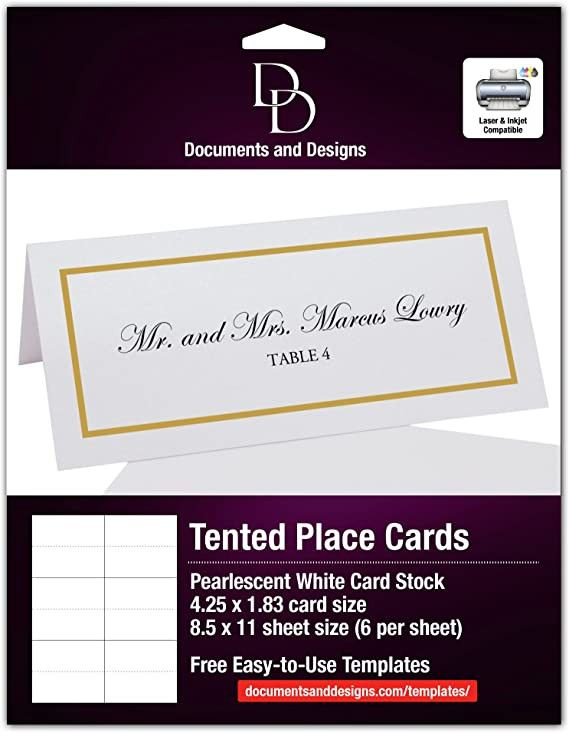 Place Cards Templates 6 Per Sheet Wedding Place Card Templates Place Card Template Card Template