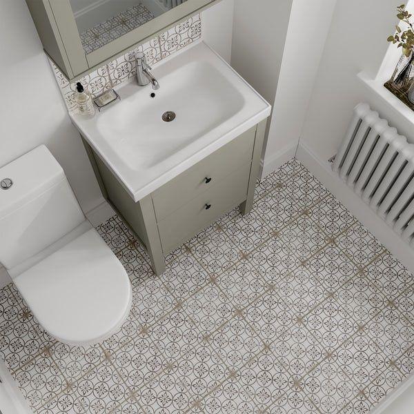 The Bath Co Aragon Petal Grey Matt Wall And Floor Tile 200mm X