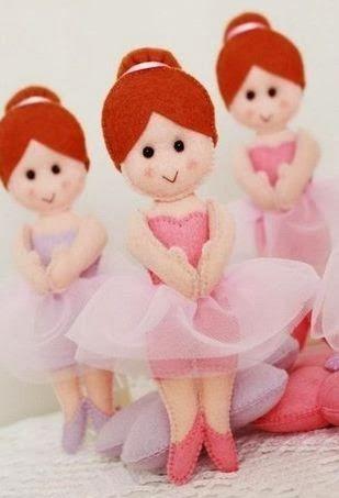 Muñecas en fieltro con moldes   Solountip.com
