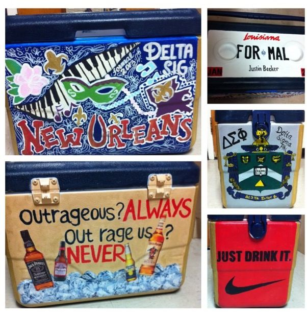 I'm going to start painting coolers for people.  So cute!
