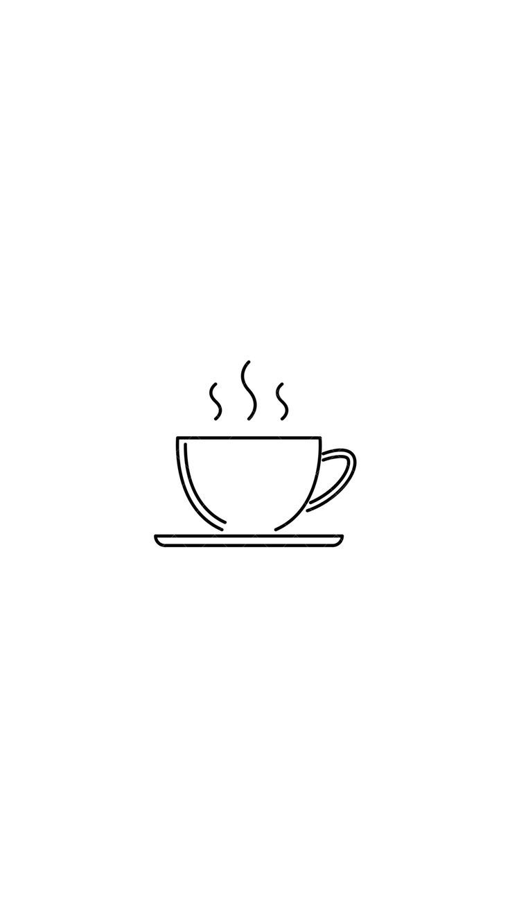 Coffee Background Coffee Art Drawing Coffee Icon Easy Drawings