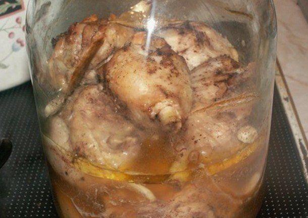 Курица в банке. Безумно вкусно и нежно!